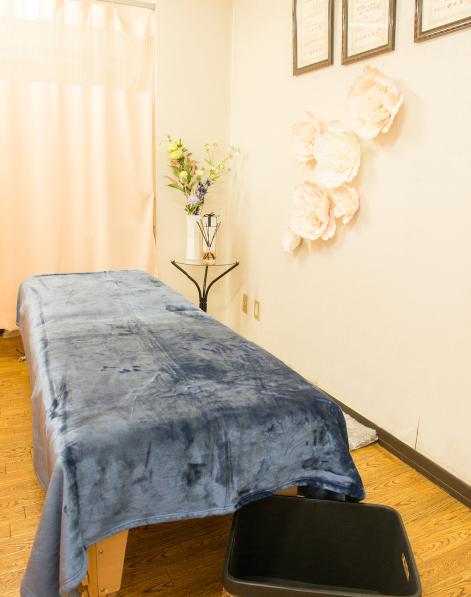 治療院のベッド