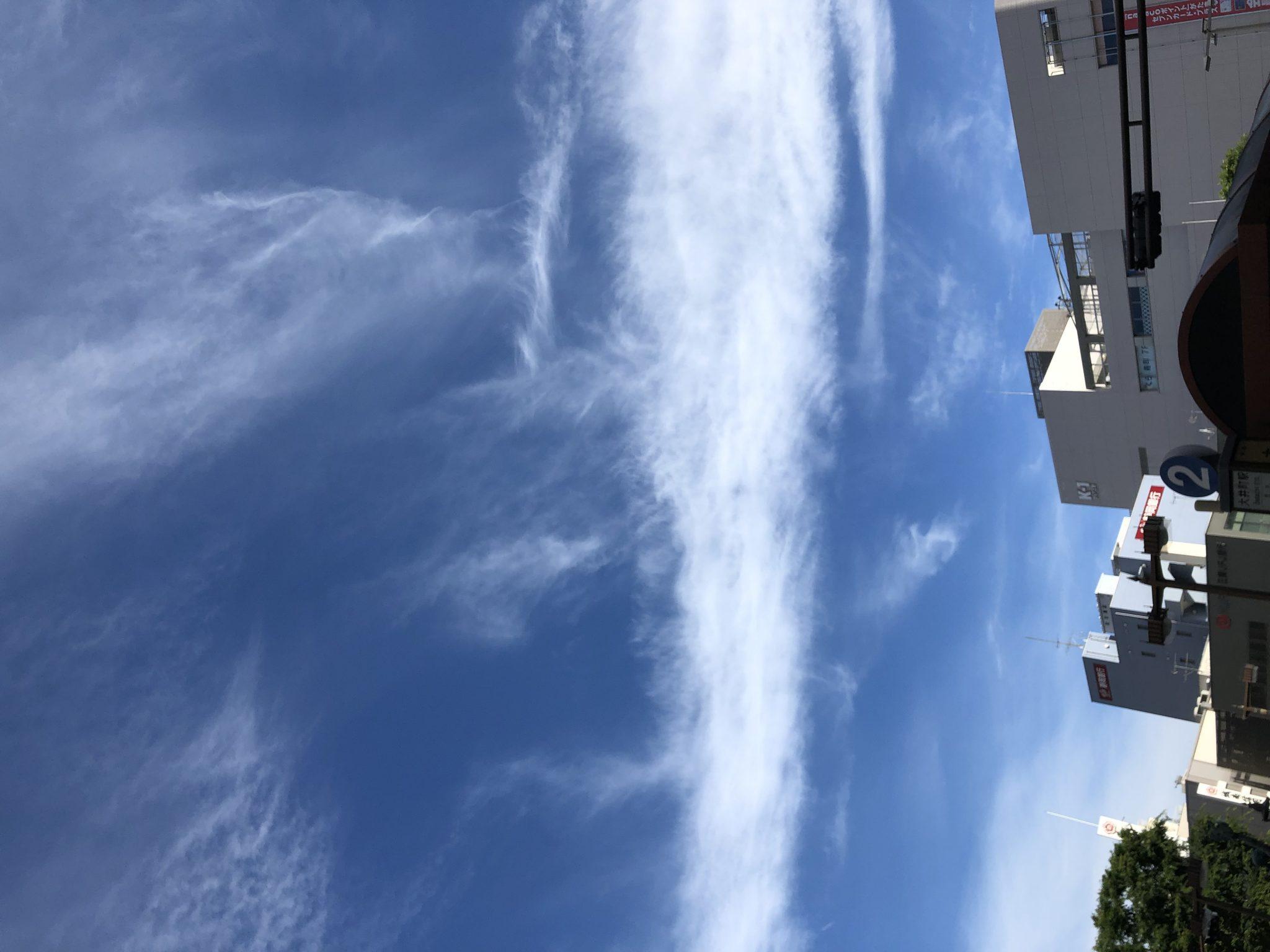 東京大井町の青空